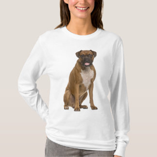 "Boxer Puppy Dog ""Boxer Love"" Womens Tee Shirt"