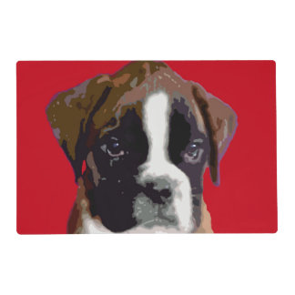 Boxer puppy dog laminated placemat
