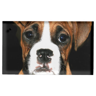 Boxer puppy dog table card holders