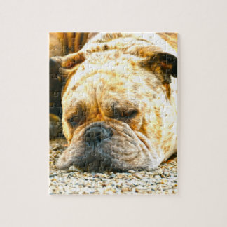 Boxer Puppy Dog Water Color Oil Paint Art Jigsaw Puzzle
