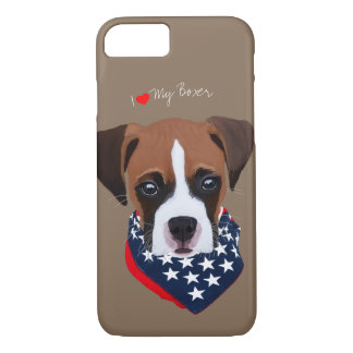 Boxer Puppy Illustrated Cell Phone Case