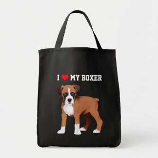 Boxer Puppy Illustrated Tote Bag
