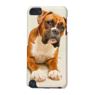 Boxer puppy on ivory cream backdrop. iPod touch (5th generation) cover