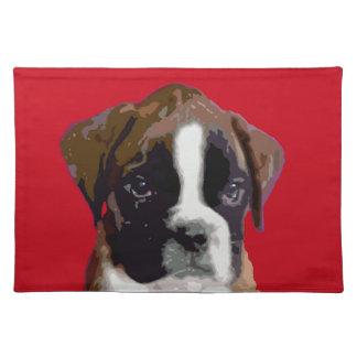 Boxer puppy place mats