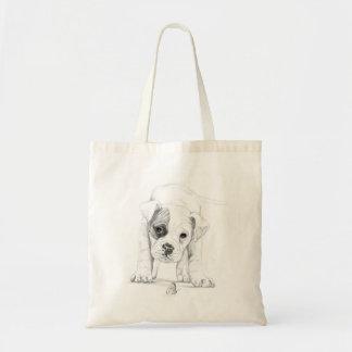 Boxer Puppy Sketch Tote Bag