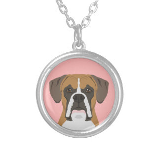 Boxer Silver Plated Necklace