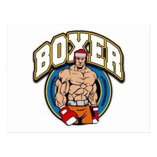 Boxer Sparring Partner Postcard