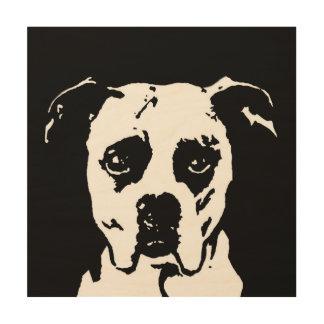 "Boxer Stencil Wood 12""x12"" Wall Art"