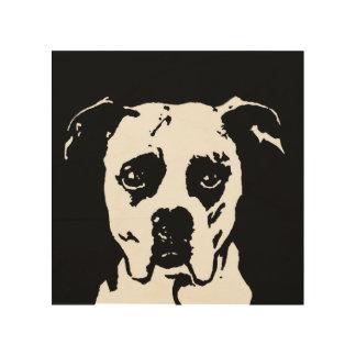 "Boxer Stencil Wood 8""x8"" Wall Art"