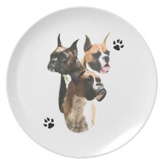 Boxer Trio Plate