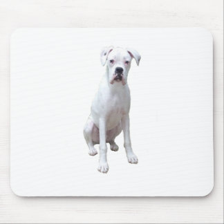 BOXER - White pup.png Mouse Pad