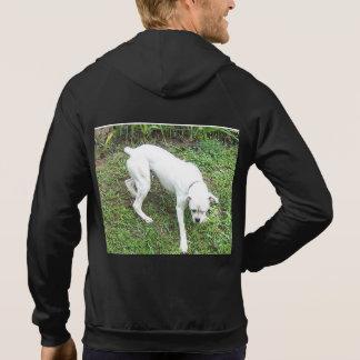 Boxer White Puppy full Hoodie