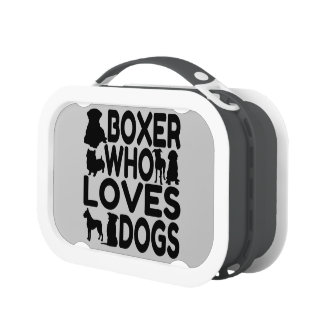 Boxer Who Loves Dogs Lunch Box