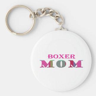 BoxerMom Basic Round Button Key Ring