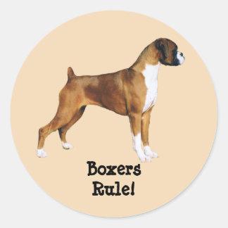 Boxers Label Round Sticker