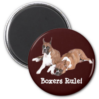 Boxers Rule Magnet