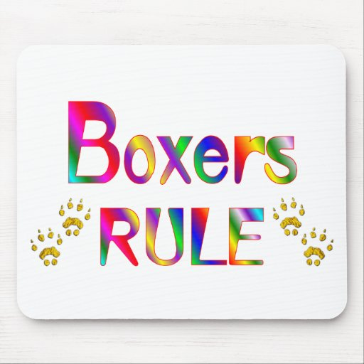 Boxers Rule Mouse Mats