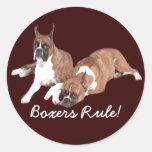 Boxers Rule Sticker