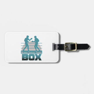 boxers sparring luggage tag