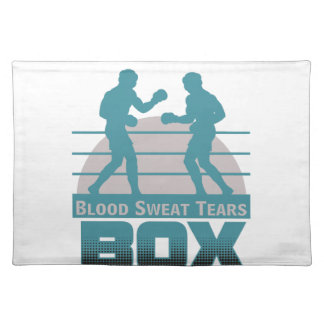 boxers sparring placemat