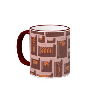 Boxes Art Ringer Mug
