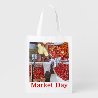 Boxes of Fruit - Market Day Reusable Grocery Bag