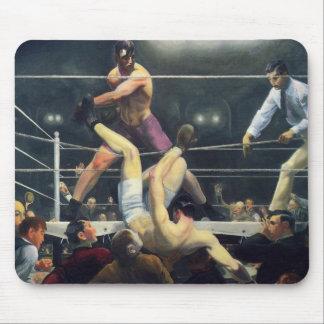 Boxing art mouse pad