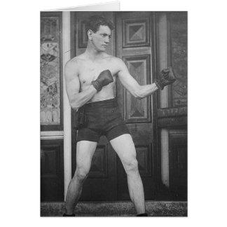 Boxing Boy Card