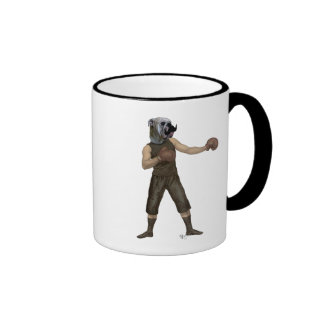 Boxing Bulldog Full 2 Ringer Mug