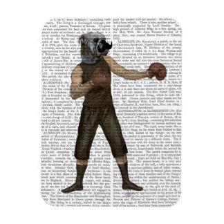 Boxing Bulldog Full Rectangular Photo Magnet