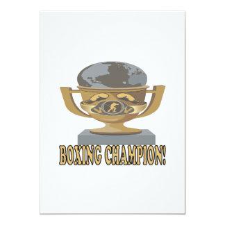 Boxing Champion 13 Cm X 18 Cm Invitation Card