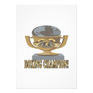 Boxing Champion Custom Invites