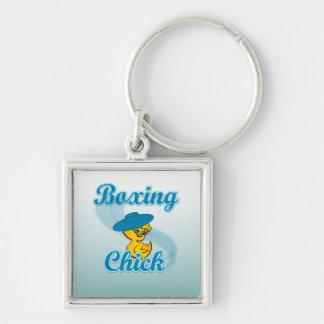 Boxing Chick 3 Key Chain