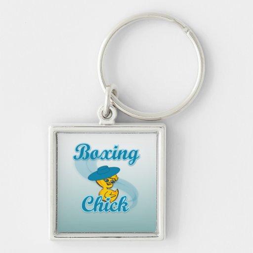 Boxing Chick #3 Key Chain