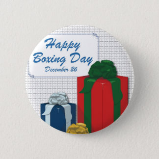 Boxing Day 6 Cm Round Badge
