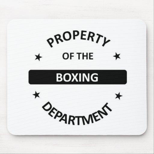 Boxing Department Mouse Pad