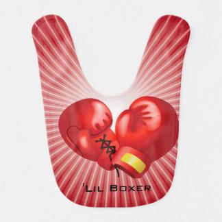 Boxing Design Baby Bib