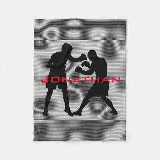Boxing Design Fleece Blanket