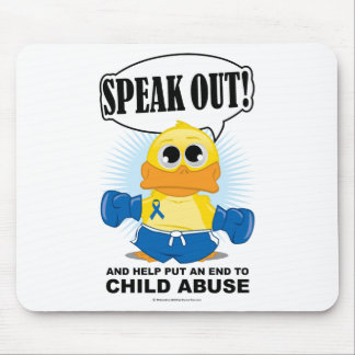 Boxing Duck Child Abuse Mouse Pad