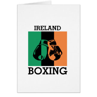 Boxing Fans Gift For Boxing Irish Mma Boxing Card