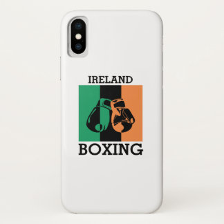 Boxing Fans Gift For Boxing Irish Mma Boxing iPhone X Case