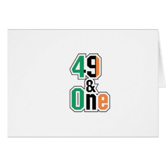 Boxing Fans Irish Forty-Nine And One (49 And 1) Card