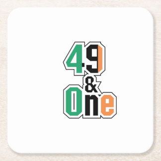 Boxing Fans Irish Forty-Nine And One (49 And 1) Square Paper Coaster