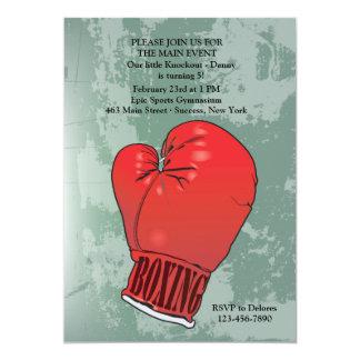 Boxing Glove Birthday Party Invitation