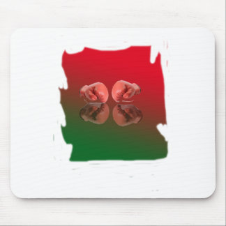 Boxing Glove With Background color Mousepads