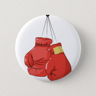Boxing Gloves 6 Cm Round Badge