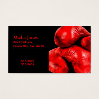 Boxing Gloves Boxer Grunge Style Business Card