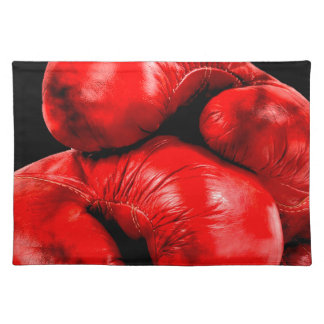 Boxing Gloves Boxer Grunge Style Placemat