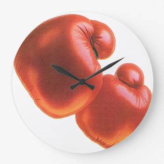 Boxing Gloves Large Clock