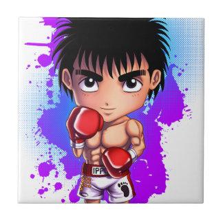 Boxing Guyboxing,boxer,chibi,manga,kickboxer,manga Small Square Tile